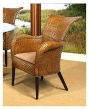 Grand Bahama Rattan Dining Arm Chair in Urban Mahogany (957)