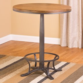 Hillsdale Furniture Hillsdale Westview Bar Height Bistro Table - Steel /Oak, Steel Gray And Black Oak, Metal