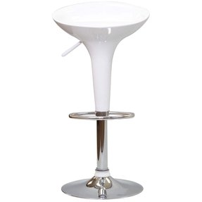 LexMod Ice Cream Bar Stool in White Set of 2