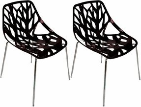 Mod Made Net Chair, Black, Set of 2