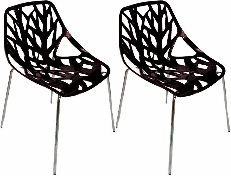 Exceptionnel Mod Made Net Chair, Black, Set Of 2