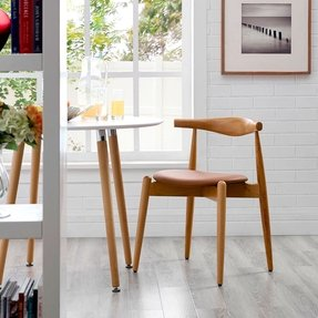 Modern Contemporary Wood Dining Side Chair Natural Tan