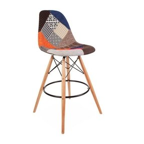 ModHaus Mid Century Modern Eames DSW Style Fabric Upholstered Counter Stool with Dowel Wood Base HIGH QUALITY