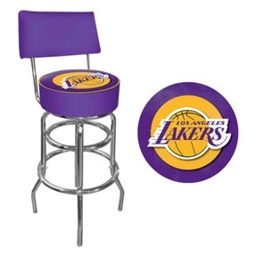 NBA Los Angeles Lakers Padded Swivel Bar Stool with Back