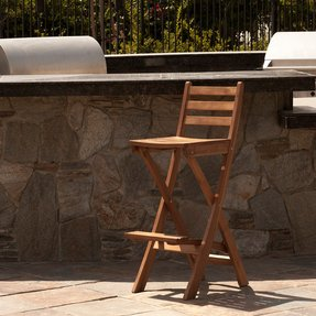 Outdoor Folding Bar Chairs Wooden Folding Bar Stools