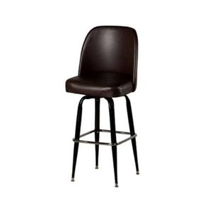 Oak Street SL2133-WINE Swivel Bar Stool W/ Square Single Chrome Ring & Wine Bucket Seat - Swivel