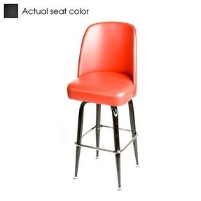 "Oak Street Swivel Bar Stool 16""D x 18""W seat upholstered premium bucket seat red vinyl - SL2133-RED"
