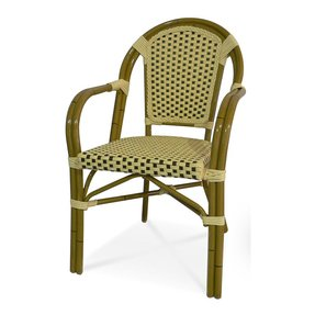Paris Arm Chair in Cream/Chocolate