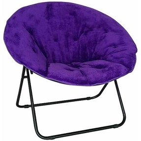 features romantic space saving folding. Purple Saucer Chair Features Sturdy, Aluminum Construction \u0026 Soft Faux Fur Upholstery. Folds Up Romantic Space Saving Folding