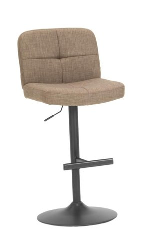 Simply Furniture 34 Inch Adjustable Height Gas Lift Bar stool - Taupe