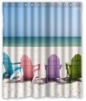 Standard Store Custom Special Design Beach Chairs Shower Curtain 60