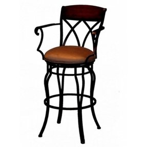 "Tempo Hartford Swivel 26"" Bar Stools with Arms"