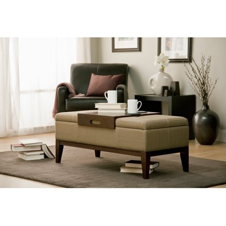 This Versatile And Sylish Storage Ottoman Can Be Used As An Bench Chair,  Foot Rest