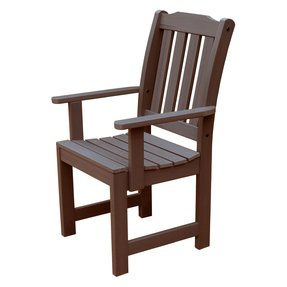 Traditional Garden Dining Arm Chair [Set of 2] Finish: Mahogany