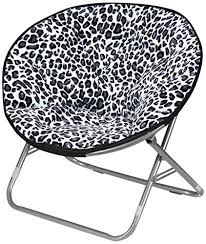 Urban Shop Snow Leopard Faux Fur Saucer Chair