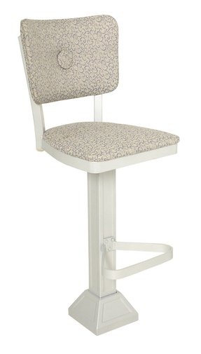 adjustable chrome cushioned finish stool base barstool white pedestal leatherette foter adeco explore chair