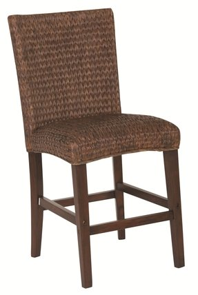 Westbrook Banana Leaf Counter Height Chair Dark Brown/Set of 2