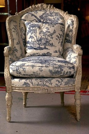 19th c antique french wingback bergere chair 1