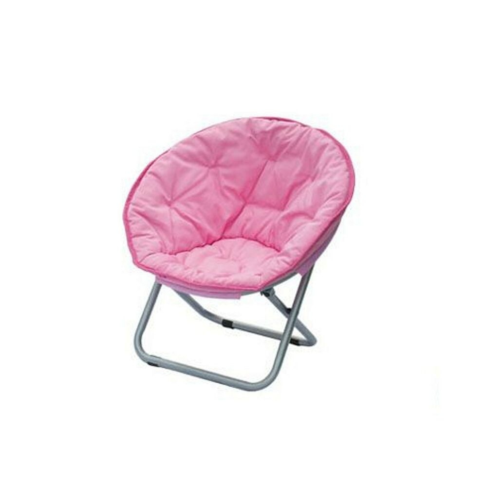 Artiva USA 62050PK Pink Comfortable Fabric, Light Weight Moon Chair (Set Of  4)