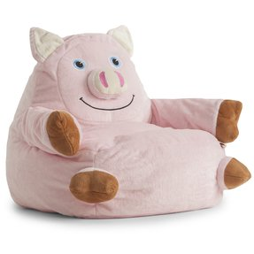 Bagimals Comfort Research Bagimals Arm Chair Bean Bag - Pig, Pink, Polyester Cover