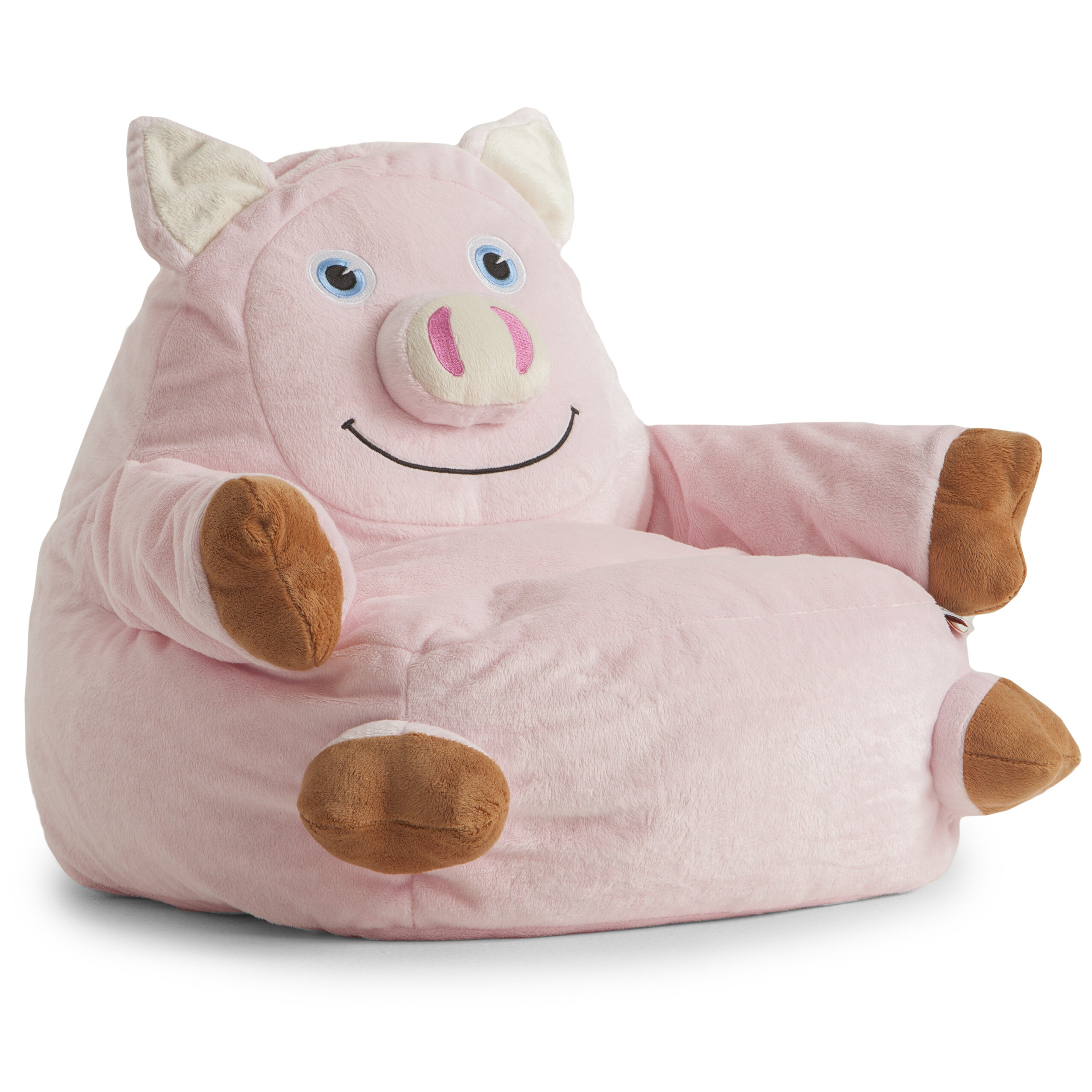 Bagimals Comfort Research Bagimals Arm Chair Bean Bag   Pig, Pink,  Polyester Cover
