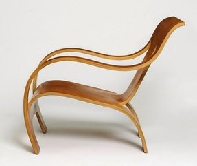 Bent wood arm chair