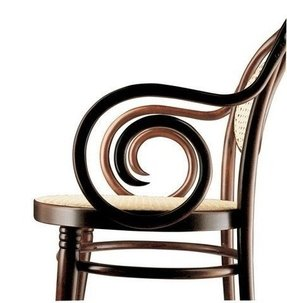 Bent wood lounge chair