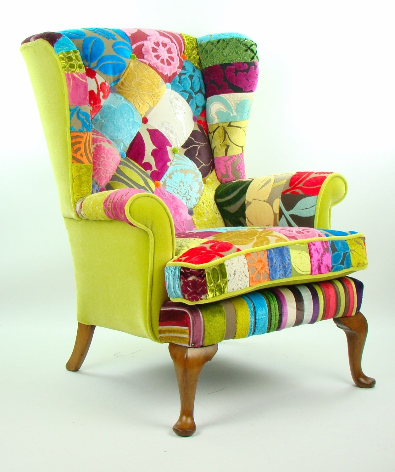 Ordinaire Bespoke Patchwork Armchair In Designer