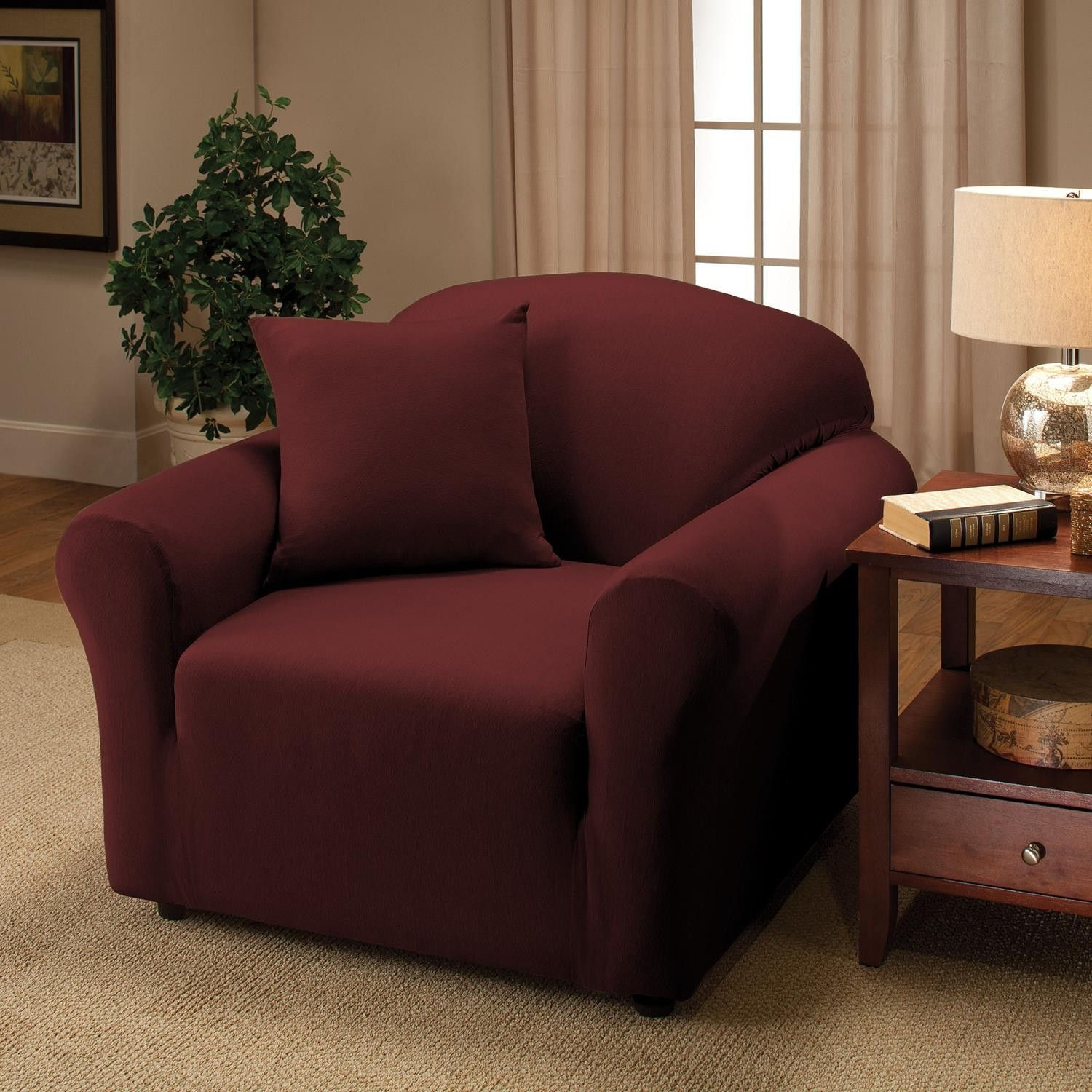 Black Jersey Loveseat Stretch Slipcover, Sofa, Chair, Recliner, Couch Cover  Love Seat