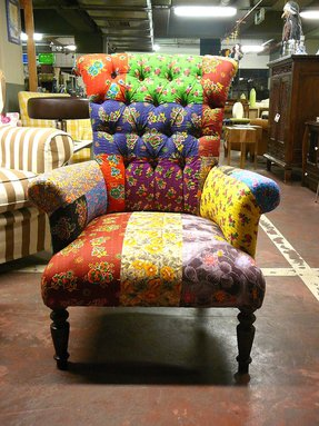 Boho patchwork chair