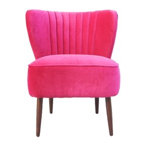 Bright pink armchair