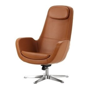 Brown leather swivel chairs