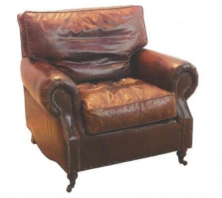 Merveilleux Button Back Leather Chair
