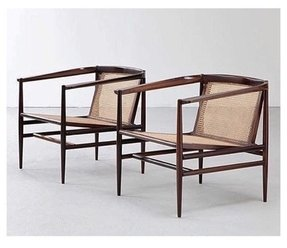 Cane armchairs 1