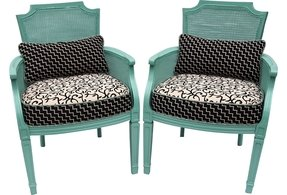 Cane armchairs 27