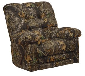 CATNAPPER 46892265536 Magnum Chaise Rocker Recliner with Heat and Massage, Big Man, camouflage