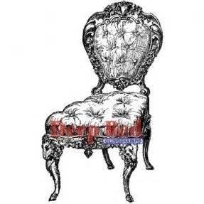 Deep Red Cling Stamp-Victorian Velvet Chair