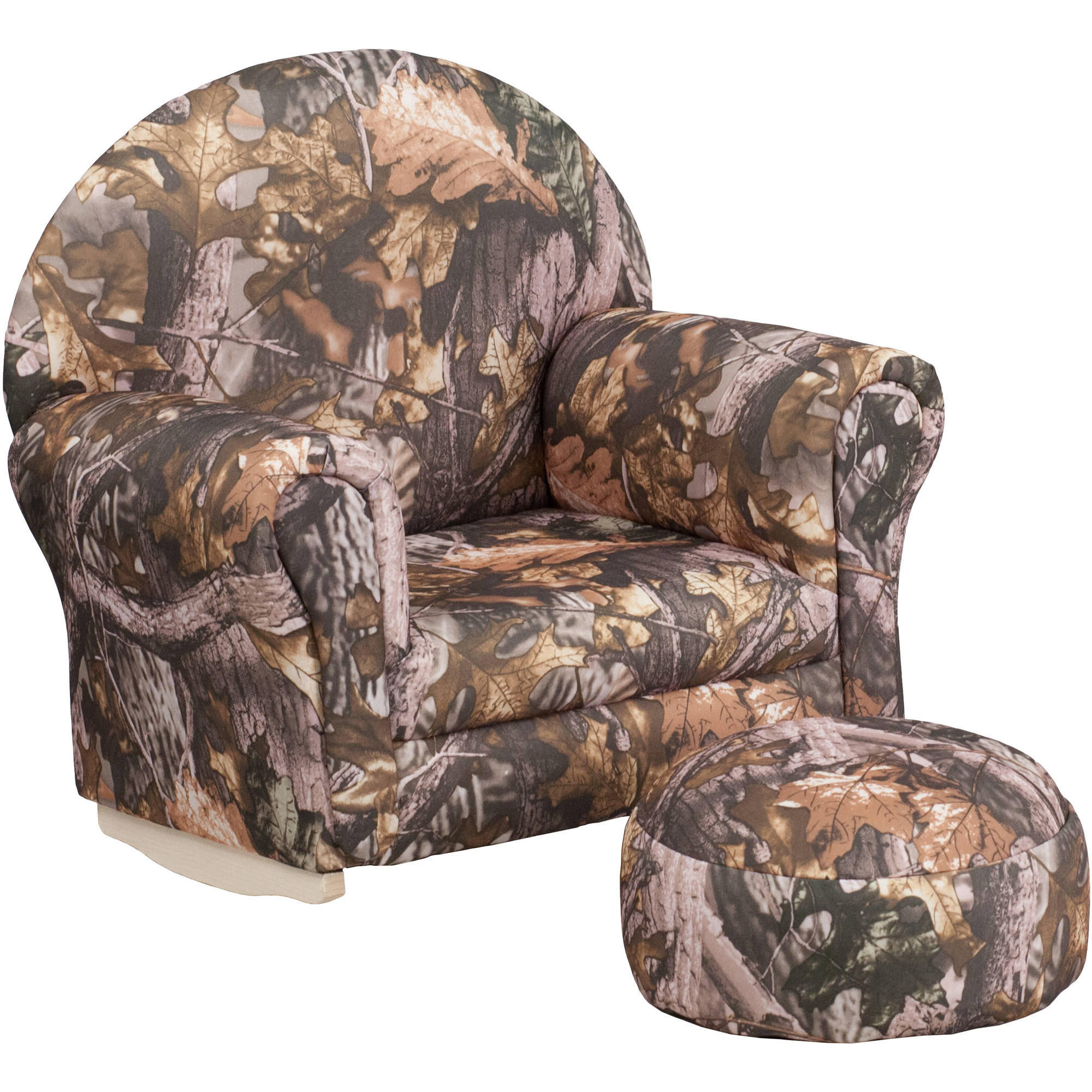 Beautiful Flash Furniture Kids Camouflage Fabric Rocker Chair And Footrest