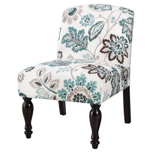 Simple Floral Accent Chair Minimalist