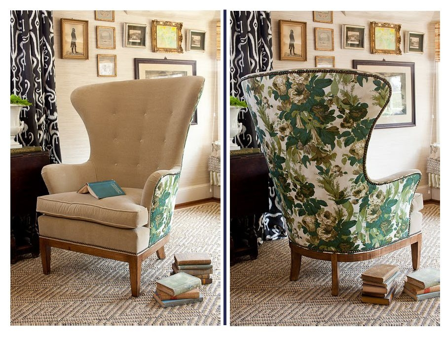 Etonnant Green Leather Wingback Chair