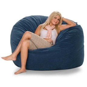 Large Sac Bean Bag Lounger Color: Chocolate