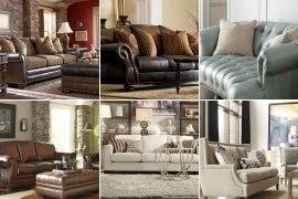 Leather Sofas With Nailhead Trim