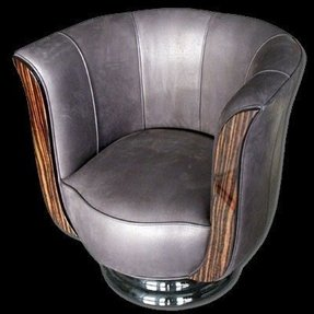 Leather tub chair swivel