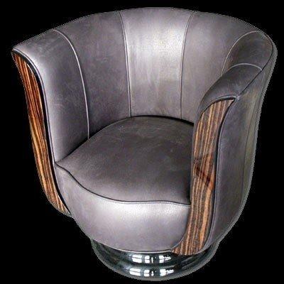 Leather Tub Chair Swivel