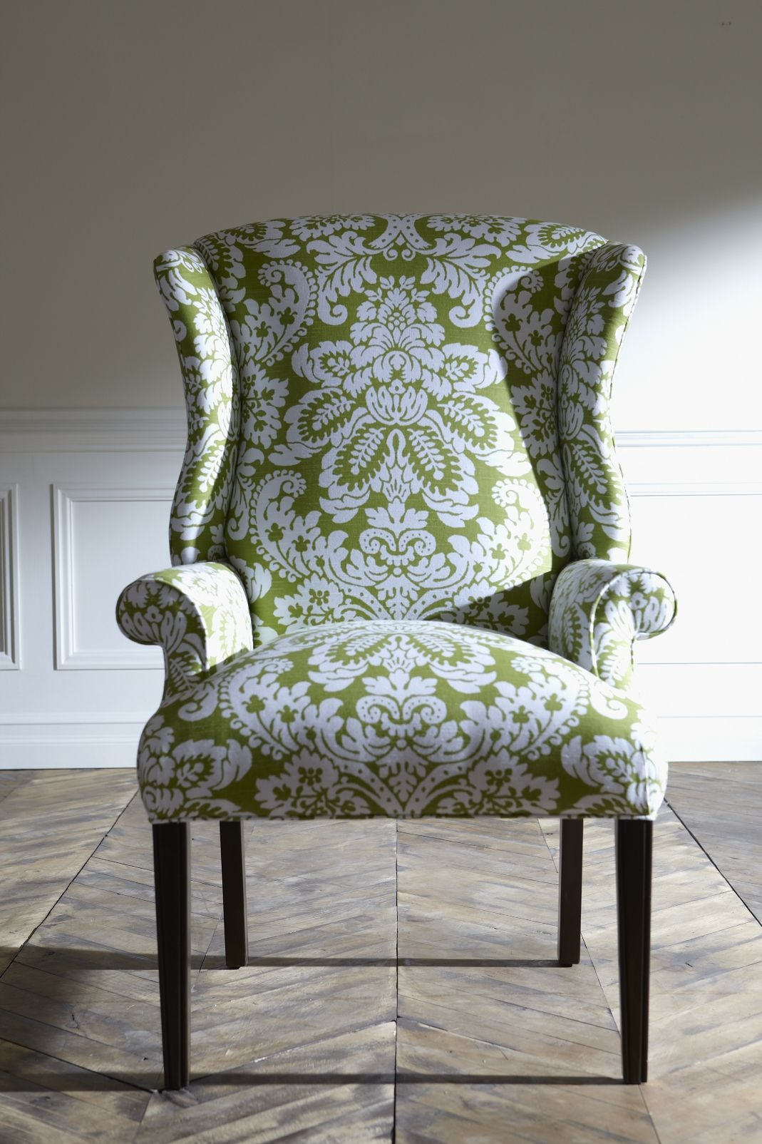 Attractive Lime Green Wingback Chair