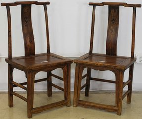 M2C51X-Antique Asian Chairs, Qing Dynasty (1644-1912), China, Antique Furniture: Chairs from Asia