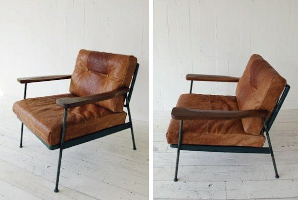 Merveilleux Metal And Leather Chair