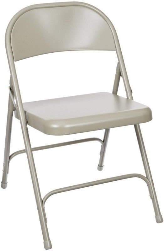 National Public Seating 50 Series All Steel Standard Folding Chair with Double Brace, 480 lbs Capacity, Char-Blue (Carton of 4)