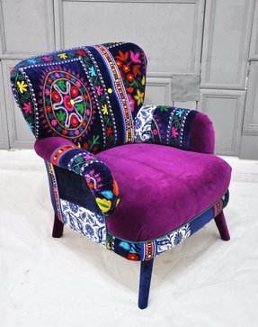 Patchwork armchairs