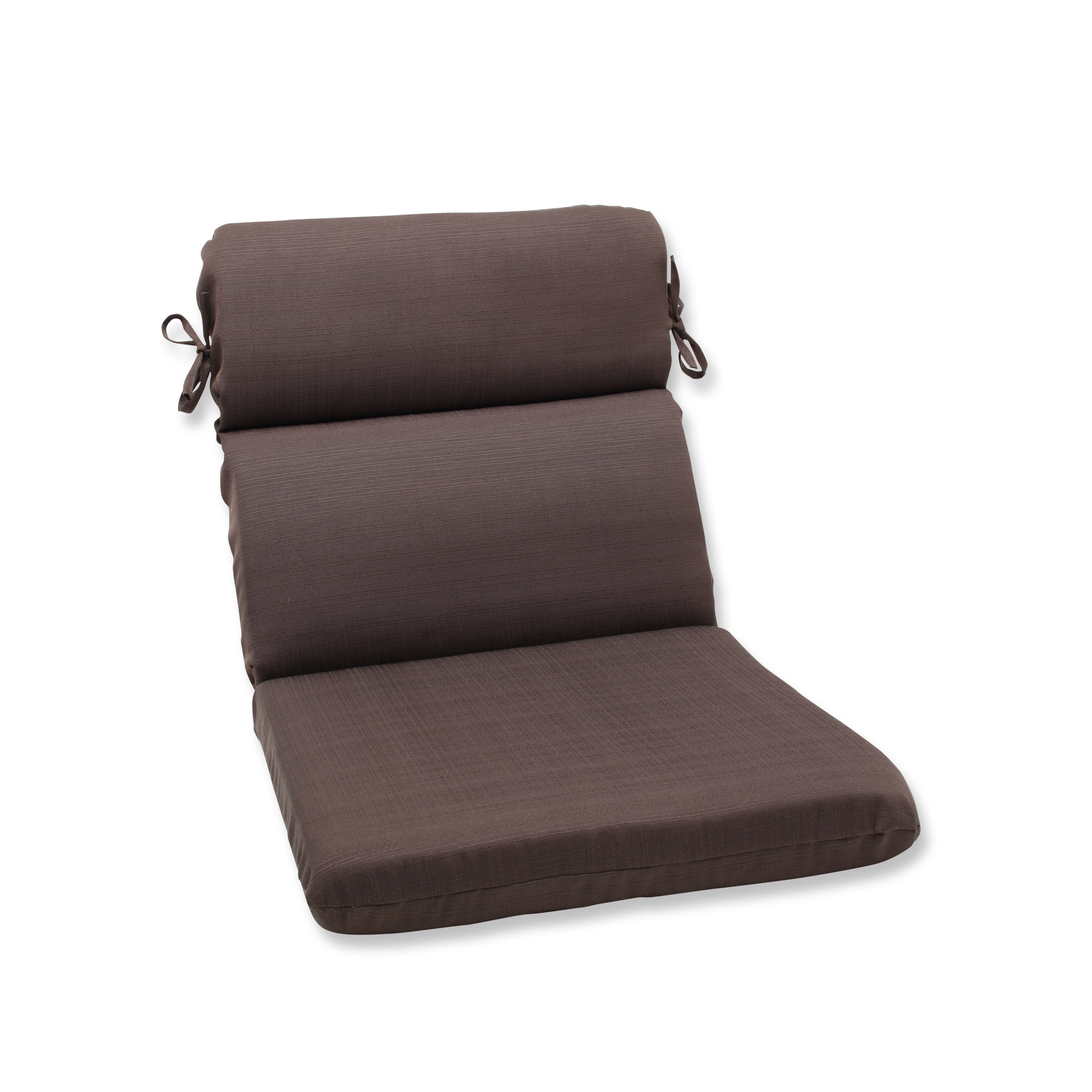 Pillow Perfect Outdoor Forsyth Chocolate Rounded Corners Chair Cushion